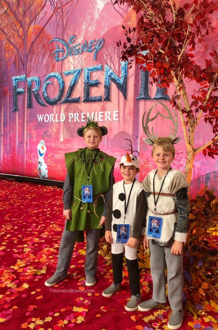 Frozen 2 Premiere Costumes