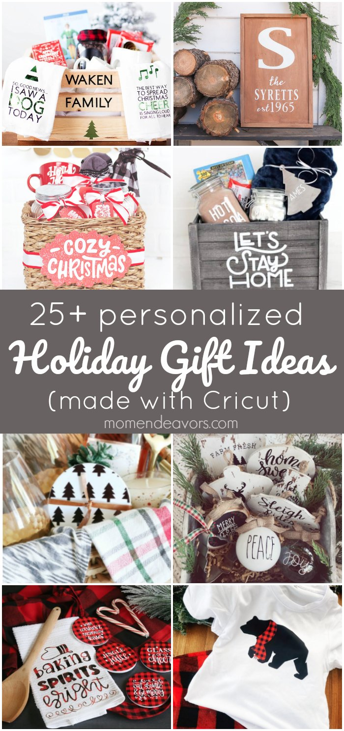 25 Diy Personalized Holiday Gift Ideas Made With Cricut