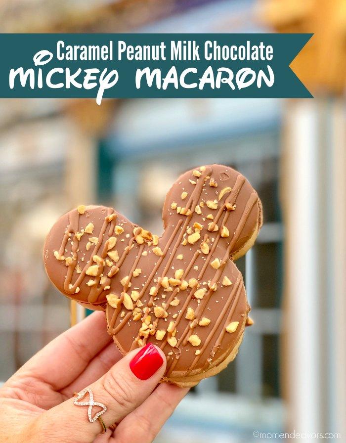 Caramel Peanut Milk Chocolate Mickey Macaron