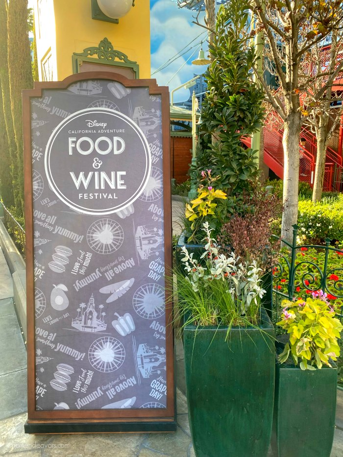 A Disney Food & Wine Festival Sign
