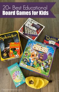 Assortment of educational board games