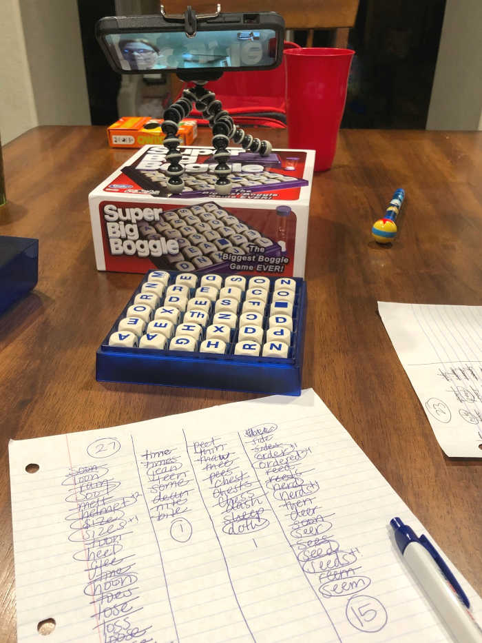 Remote Boggle Game Play Set-up
