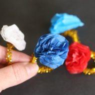 Easy Paper Flower Rings