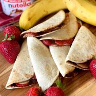 Strawberry Banana Quesadillas with Nutella®