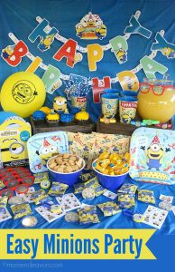 A Minions Birthday Party Table