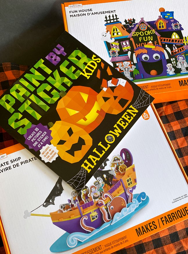 Halloween craft kits and sticker book