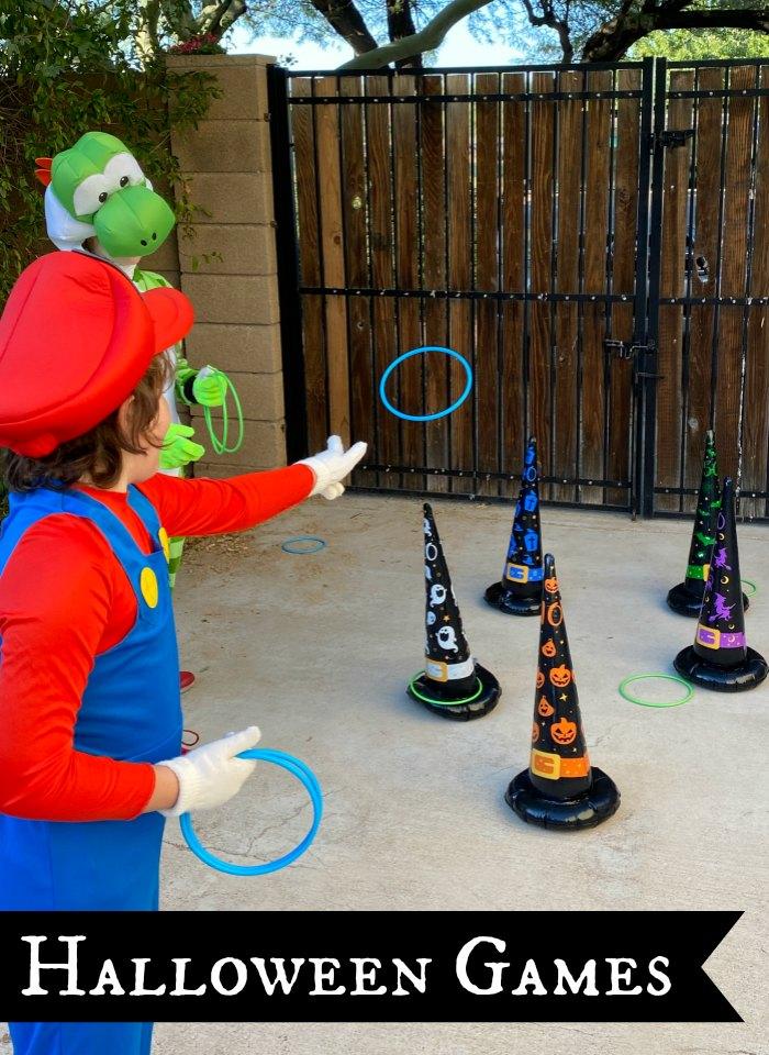 Halloween ring toss game