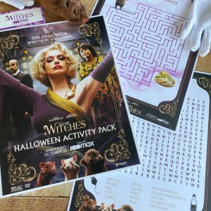 Printable Activity Sheets for the Witches Movie
