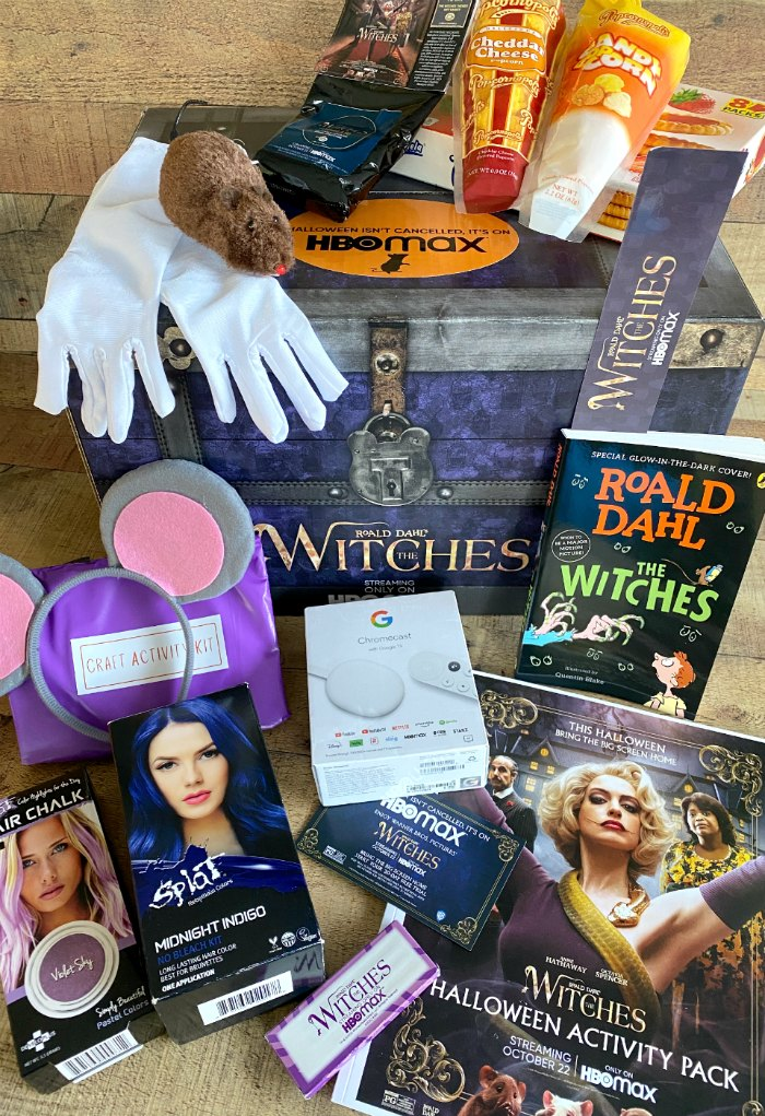 Various movie night items for The Witches movie