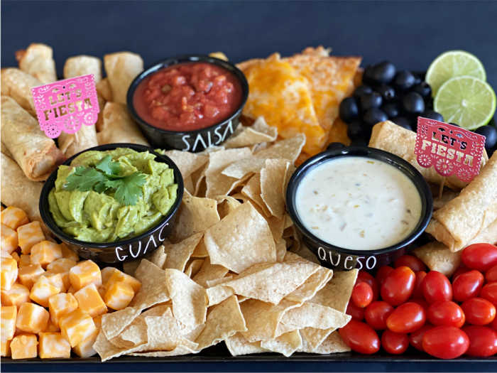Mexican Food on a Platter