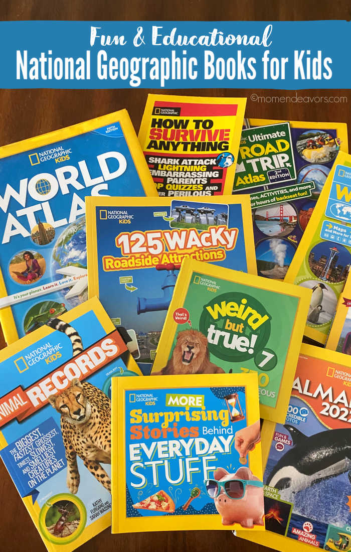 A collection of National Geographic Kids books