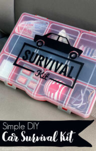 Small Car Survival Kit shown on a car seat