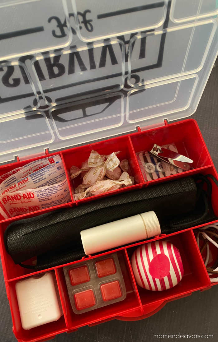"""Contents of a small car """"survival"""" kit"""